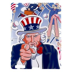 United States Of America Celebration Of Independence Day Uncle Sam Apple Ipad 3/4 Hardshell Case by Onesevenart
