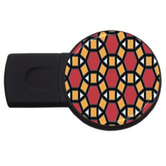 Circle Ball Red Yellow Usb Flash Drive Round (4 Gb) by AnjaniArt