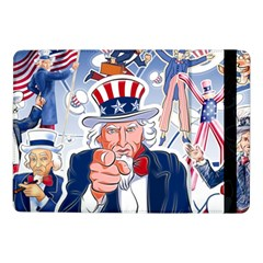 United States Of America Celebration Of Independence Day Uncle Sam Samsung Galaxy Tab Pro 10.1  Flip Case by Onesevenart