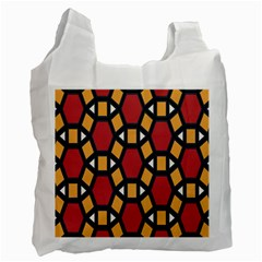 Circle Ball Red Yellow Recycle Bag (one Side) by AnjaniArt