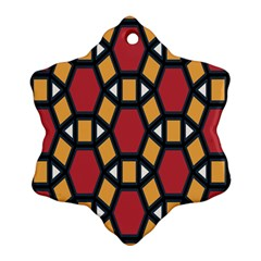 Circle Ball Red Yellow Ornament (snowflake) by AnjaniArt