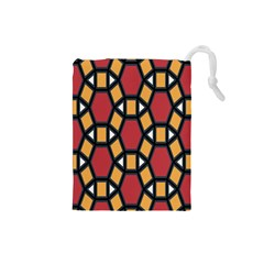 Circle Ball Red Yellow Drawstring Pouches (small)  by AnjaniArt