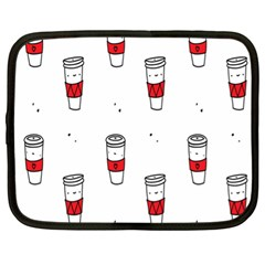 Coffee Cup Glass Netbook Case (xl)  by AnjaniArt