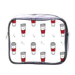 Coffee Cup Glass Mini Toiletries Bags by AnjaniArt