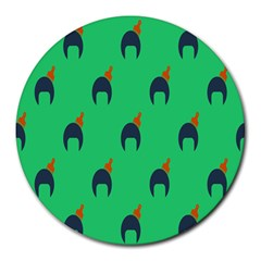 Comb Disco Green Round Mousepads by AnjaniArt