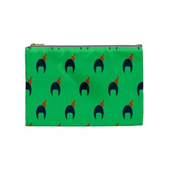 Comb Disco Green Cosmetic Bag (medium)  by AnjaniArt