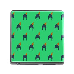 Comb Disco Green Memory Card Reader (square) by AnjaniArt