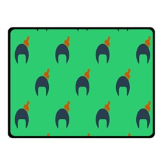 Comb Disco Green Fleece Blanket (Small) by AnjaniArt