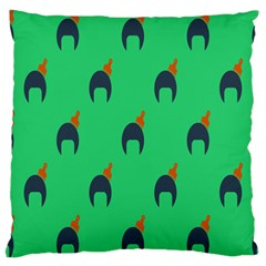Comb Disco Green Large Cushion Case (two Sides) by AnjaniArt