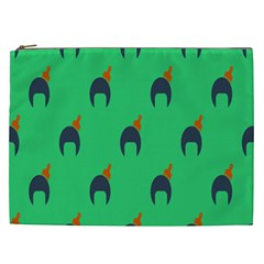 Comb Disco Green Cosmetic Bag (xxl)  by AnjaniArt