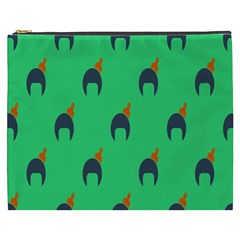 Comb Disco Green Cosmetic Bag (xxxl)  by AnjaniArt