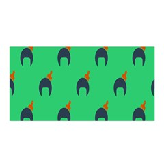 Comb Disco Green Satin Wrap by AnjaniArt
