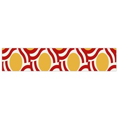 Circle Orange Red Flano Scarf (small) by AnjaniArt