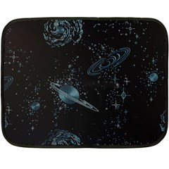 Decoboom Engraved Pickguard Space Saturnus Double Sided Fleece Blanket (mini)  by AnjaniArt