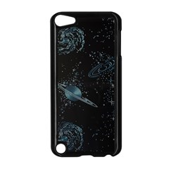 Decoboom Engraved Pickguard Space Saturnus Apple Ipod Touch 5 Case (black) by AnjaniArt
