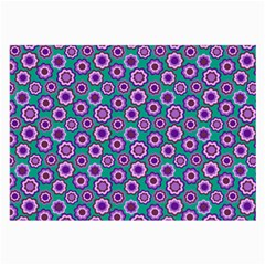 Clipart Floral Pattern Flower Purple Green Large Glasses Cloth (2 Side) by AnjaniArt