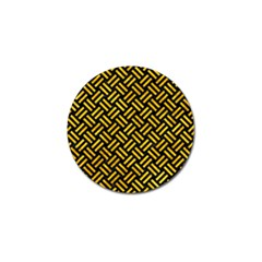 Woven2 Black Marble & Yellow Marble Golf Ball Marker (10 Pack) by trendistuff