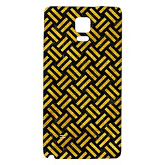 Woven2 Black Marble & Yellow Marble Samsung Note 4 Hardshell Back Case by trendistuff