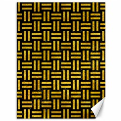 Woven1 Black Marble & Yellow Marble Canvas 36  X 48  by trendistuff