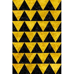 Triangle2 Black Marble & Yellow Marble 5 5  X 8 5  Notebook by trendistuff