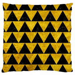 Triangle2 Black Marble & Yellow Marble Large Cushion Case (two Sides) by trendistuff