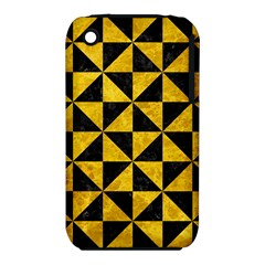 Triangle1 Black Marble & Yellow Marble Apple Iphone 3g/3gs Hardshell Case (pc+silicone) by trendistuff