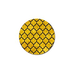 Tile1 Black Marble & Yellow Marble (r) Golf Ball Marker (4 Pack) by trendistuff