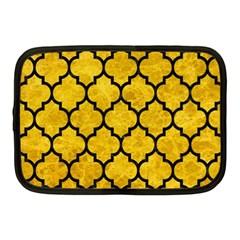 Tile1 Black Marble & Yellow Marble (r) Netbook Case (medium) by trendistuff