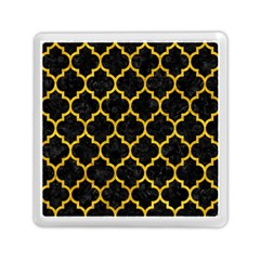 Tile1 Black Marble & Yellow Marble Memory Card Reader (square) by trendistuff