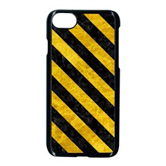 Stripes3 Black Marble & Yellow Marble (r) Apple Iphone 7 Seamless Case (black) by trendistuff