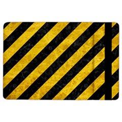Stripes3 Black Marble & Yellow Marble Apple Ipad Air 2 Flip Case by trendistuff