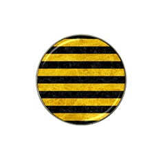 Stripes2 Black Marble & Yellow Marble Hat Clip Ball Marker (10 Pack) by trendistuff