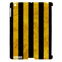 Stripes1 Black Marble & Yellow Marble Apple Ipad 3/4 Hardshell Case (compatible With Smart Cover) by trendistuff