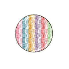 Digital Print Scrapbook Flower Leaf Color Green Red Purple Yellow Blue Pink Hat Clip Ball Marker (10 Pack) by AnjaniArt