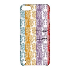 Digital Print Scrapbook Flower Leaf Color Green Red Purple Yellow Blue Pink Apple Ipod Touch 5 Hardshell Case With Stand by AnjaniArt