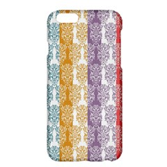 Digital Print Scrapbook Flower Leaf Color Green Red Purple Yellow Blue Pink Apple Iphone 6 Plus/6s Plus Hardshell Case by AnjaniArt