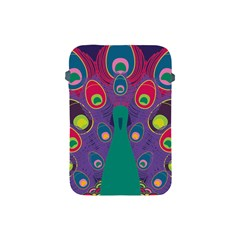 Colorful Peacock Line Apple Ipad Mini Protective Soft Cases by AnjaniArt