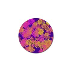 Floral Pattern Purple Rose Golf Ball Marker (4 Pack) by AnjaniArt