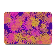 Floral Pattern Purple Rose Plate Mats by AnjaniArt