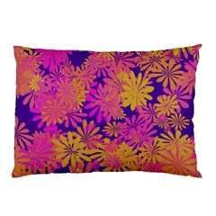 Floral Pattern Purple Rose Pillow Case by AnjaniArt