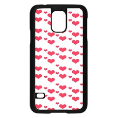 Heart Love Pink Valentine Day Samsung Galaxy S5 Case (black) by AnjaniArt