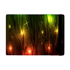 Fractal Manipulations Raw Flower Colored Ipad Mini 2 Flip Cases by AnjaniArt