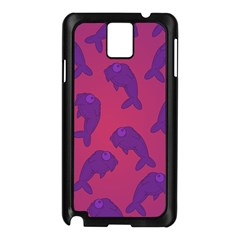 Fluffy Stuffie Animals Purple Pink Samsung Galaxy Note 3 N9005 Case (black) by AnjaniArt