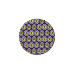 Background Colour Star Flower Purple Yellow Golf Ball Marker (10 Pack) by AnjaniArt