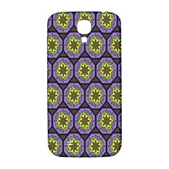 Background Colour Star Flower Purple Yellow Samsung Galaxy S4 I9500/i9505  Hardshell Back Case by AnjaniArt
