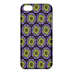 Background Colour Star Flower Purple Yellow Apple Iphone 5c Hardshell Case by AnjaniArt