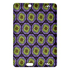 Background Colour Star Flower Purple Yellow Amazon Kindle Fire Hd (2013) Hardshell Case by AnjaniArt