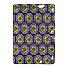Background Colour Star Flower Purple Yellow Kindle Fire Hdx 8 9  Hardshell Case by AnjaniArt