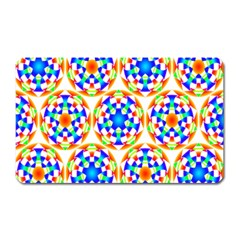 Background Colour Circle Rainbow Magnet (rectangular) by AnjaniArt