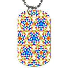 Background Colour Circle Rainbow Dog Tag (two Sides) by AnjaniArt